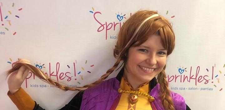Frozen Anna Event at Sprinkles Kids!