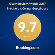 booking.com, gues review awards, best guest house johannesburg, shepherds corner guest house, accommodation sandton,