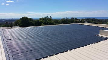 Example of solar collector for solar pool heating, Gold Coast