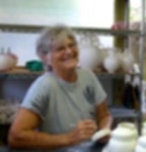 Robin MacKay Ceramics Sarasota artist studio portrait.