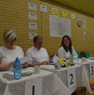 Judging table