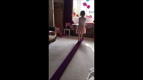 Sophie shows us her beam routine