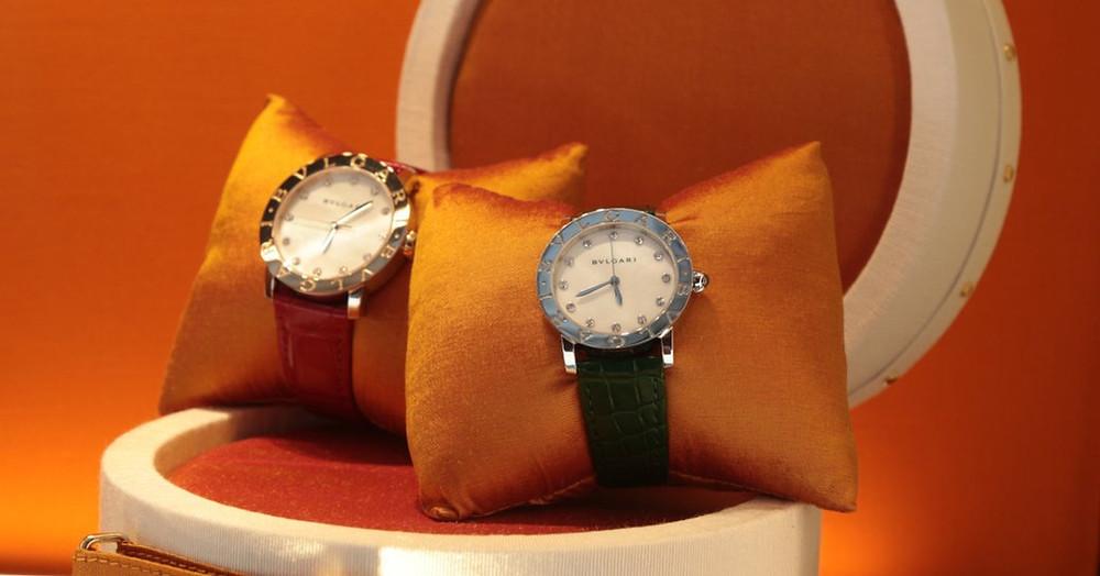 St Barts'ta Rolex mağazasında saatler