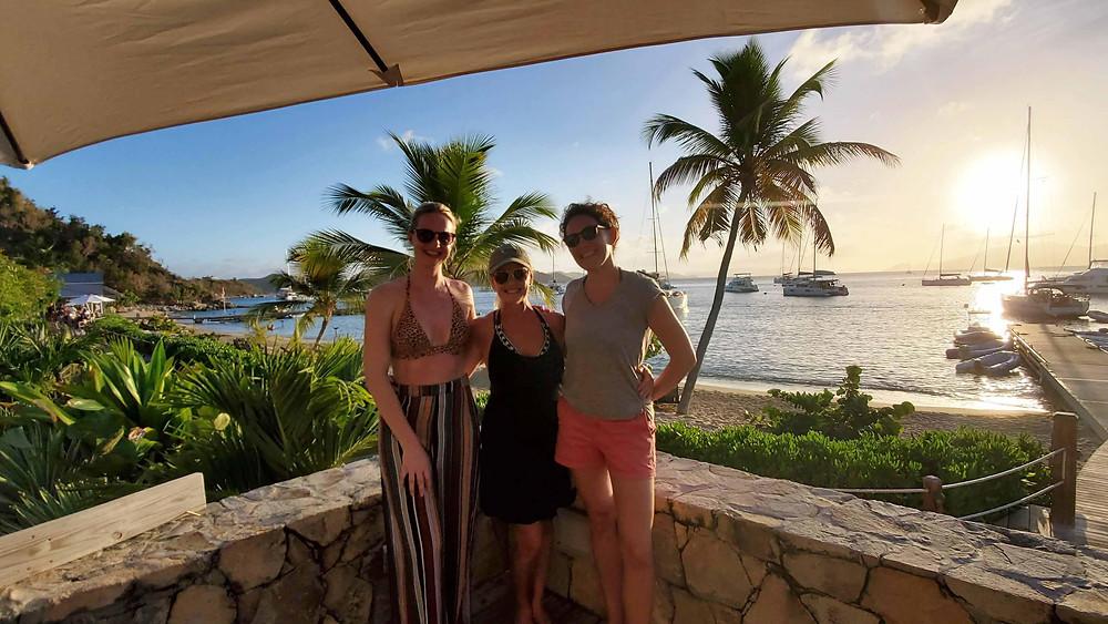 Sunsail Guests Sunset Cooper Island Beach Club BVI Caribbean