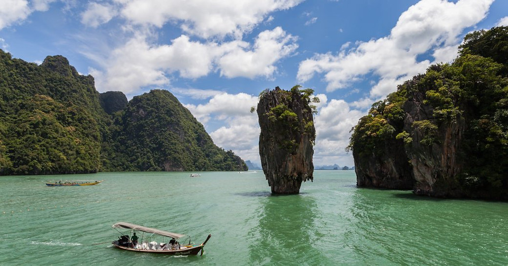 Ao Phang-Nga Milli Parkı, Tayland keşfetmek bir Kano