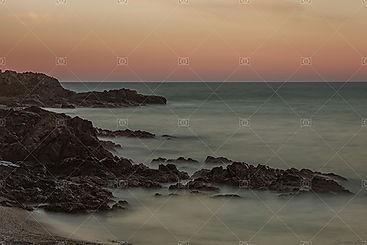 Collioure 66190 plage de l'oli coucher de soleil
