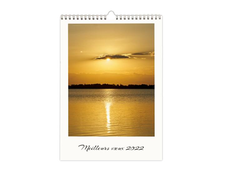 Couché de soleil sur l'étang de Canet