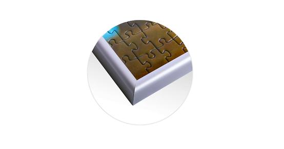 Cadre aluminium pour puzzles