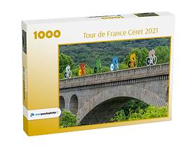 Décoration de la ville de Céret lors du passage du tour de France cycliste 2021