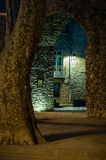 Les arcades le soir à Céret