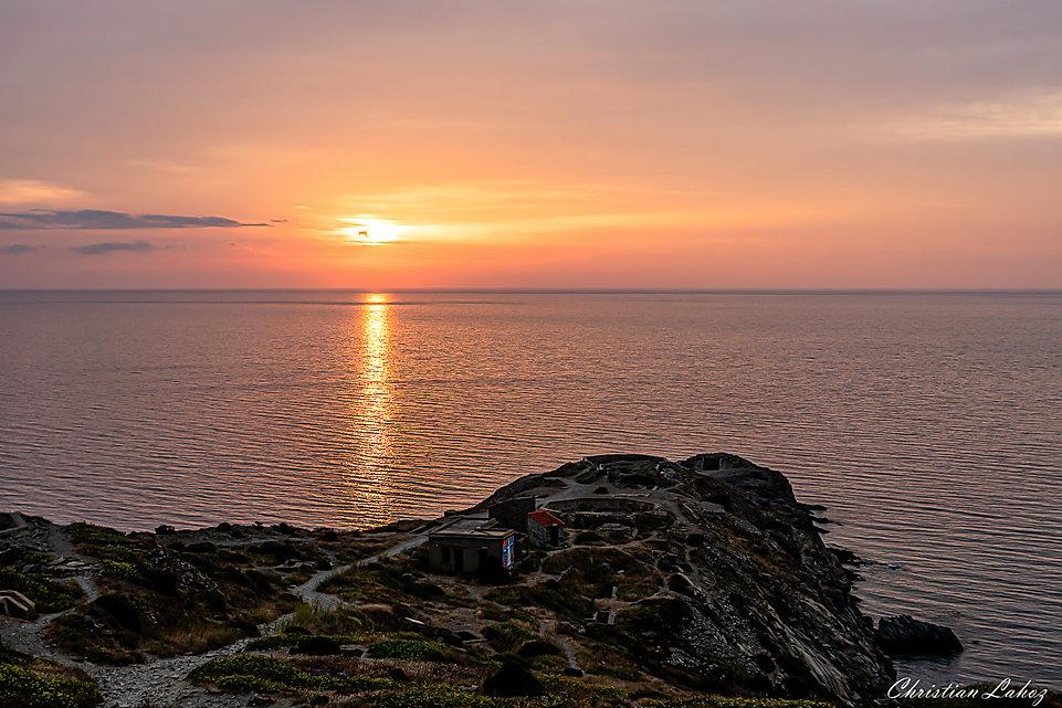 Lever de soleil Cap Bear Port-Vendres