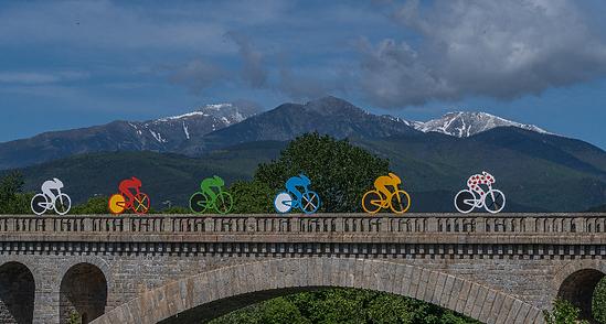 """Céret tour de France 2021. """"photo sur toile"""""""