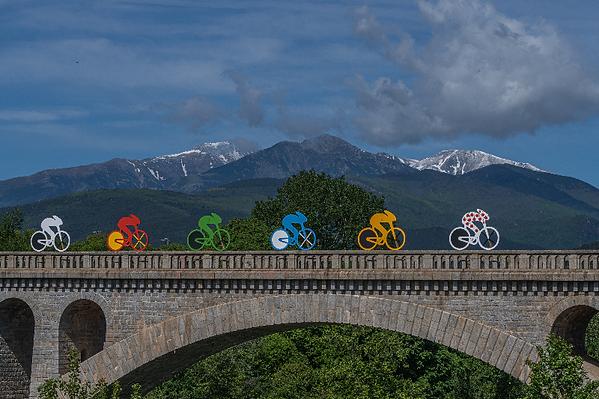 Céret pont de chemin de fer Vallespir Pyrénées Orientales Occitanie