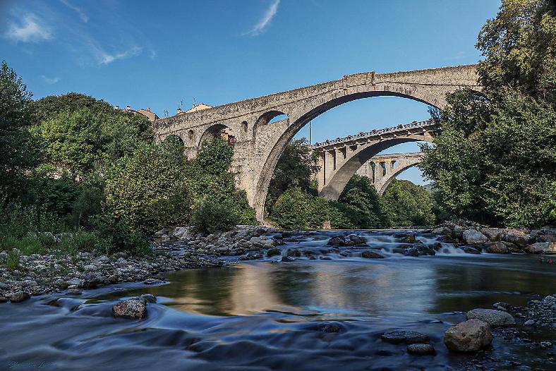 Le tech et le pont du diable à Céret Vallespir Pyrénées Orientales Occitanie France