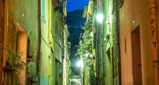 """Rue Pierre Brune Céret """"Photo sur toile"""""""