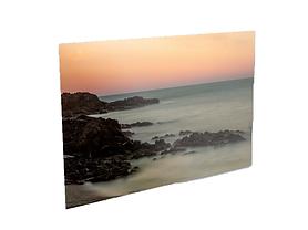 Couché de soleil sur la plage de l'Oli à Collioure