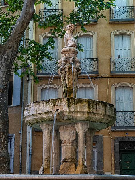 Fontaine des 9 jets Céret, Vallespir, Pyrénées Orientales, Occitanie