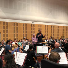 First rehearsal with ASO