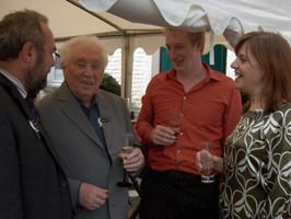 Met Burgemeester Jo Van Durme, regisseur Nicolaas Rahoens en productieleider Erica Janssens