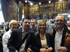 Lilly West met echtgenoot Jan samen met  Christophe en Adrian, vrienden uit Dublin, die speciaal voor deze gelegenheid waren overgekomen