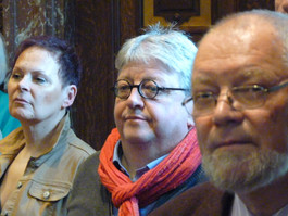 Liz Larssen, Luc Caals en Pastoor Jos Figeys