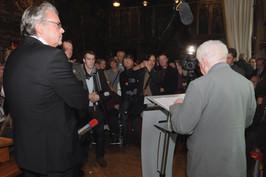 Will Ferdy en de aanwezige Vlaamse pers