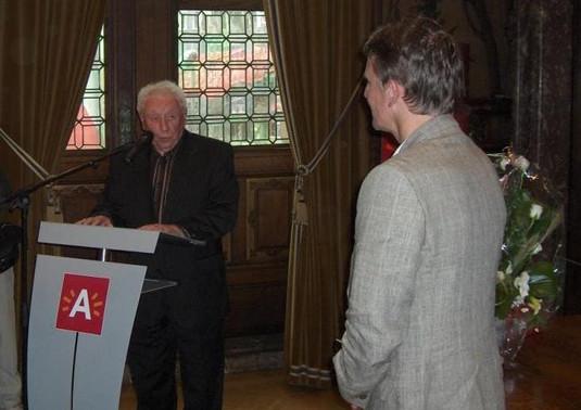 Will Ferdy en Burgemeester Patrick Janssens