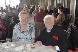 Will en Marie-José, voorzitster van de Will Ferdy Club