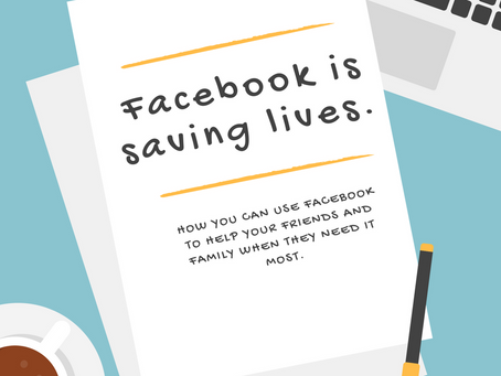 How You Can Save Lives Using Facebook