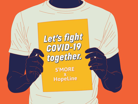 S'More partners with HopeLine to raise money & fight the mental health crisis of COVID-19
