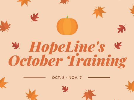 October 2018 Training Dates!