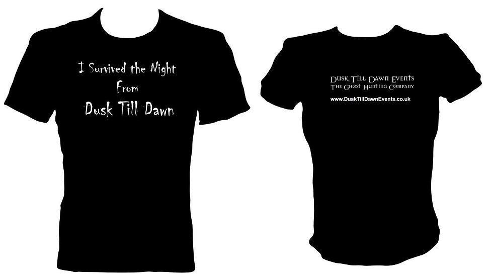 Dusk Till Dawn Events T Shirt - (I SURVIVED THE NIGHT FROM DUSK TILL DAWN)