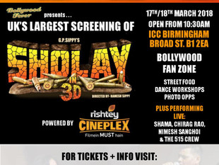 Sholay in 3D Weekend