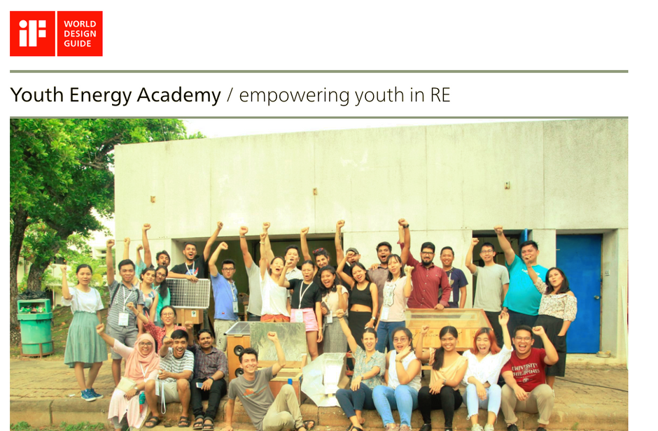 The Youth Energy Academy has been published on iF World Design Guide