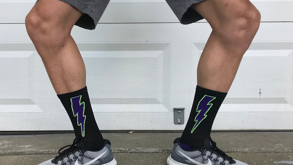 Purple Lightning Socks