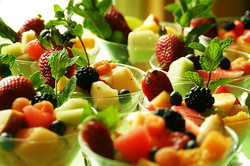 Mixed Fruit Served in Martini Glass