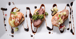 Assorted Crostini with Balsamic