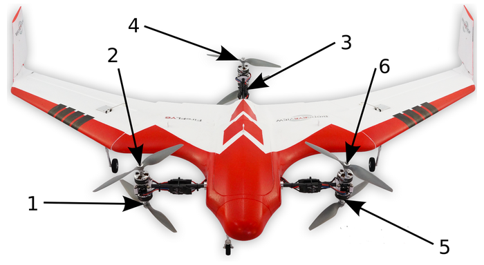 Firefly6 Pro VTOL. The front rotors tilt forward