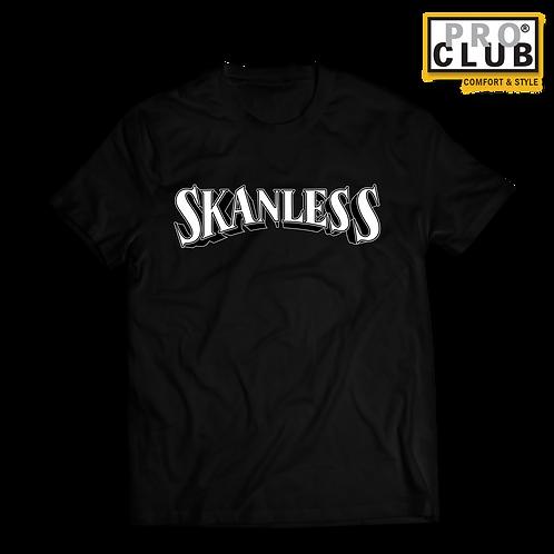 SKANLESS (WHITE) PINSTRIPE T-SHIRT
