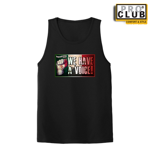 WE HAVE A VOICE MEN'S TANK TOP