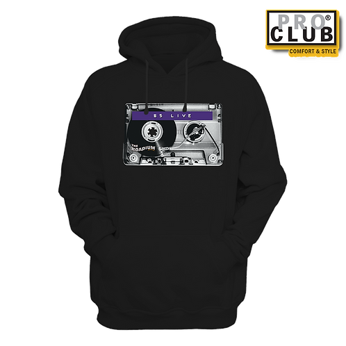 85 LIVE CASSETTE TURNTABLE HOODIE BY TONY A.