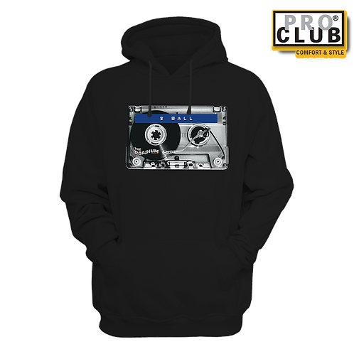 8-BALL CASSETTE TURNTABLE HOODIE BY TONY A.