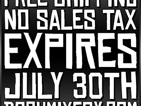 EXTENDED PROMO! FREE SHIPPING! NO SALES TAX! EXPIRES JULY 30TH!!!