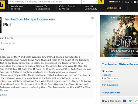 Check out The Roadium Mixtape Documixery IMDB Page!