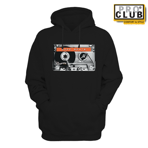 DOPE BEATS CASSETTE TURNTABLE HOODIE BY TONY A.
