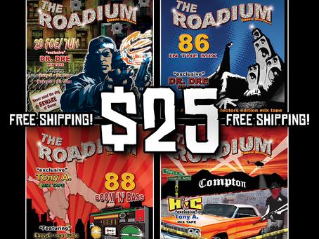 THE ROADIUM MIXTAPE 4 CD BUNDLE! ONLY $25!!!