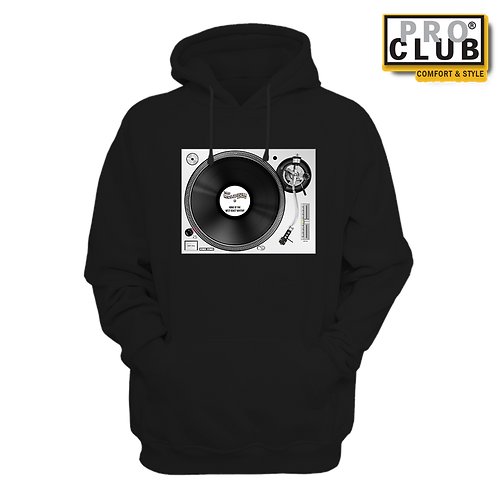 TURNTABLE ROADIUM RECORD (LIGHT) HOODIE BY TONY A.