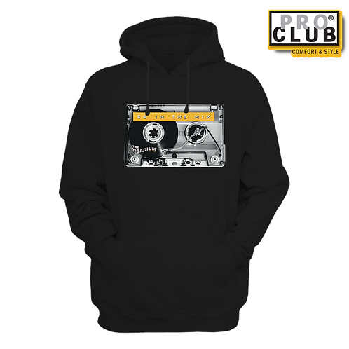 86 IN THE MIX CASSETTE TURNTABLE HOODIE BY TONY A.