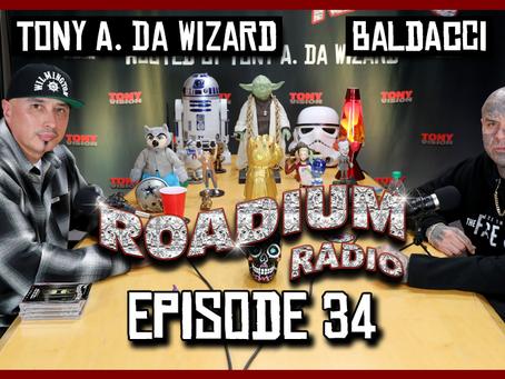 TONY VISION PRESENTS - ROADIUM RADIO - EPISODE 34 - BALDACCI