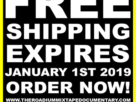 FREE SHIPPING ENDS JANUARY 1ST, 2019